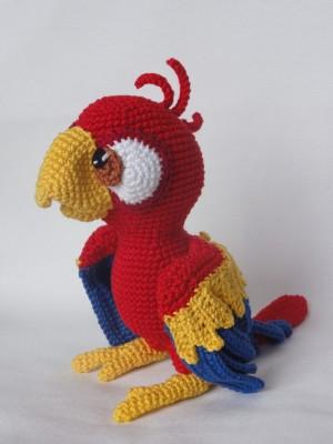 Amigurumi Blue-and-Yellow Macaw/Parrot - crochet pattern, PDF (Deutsch,  English, Nederlands, Español, Français)   Tiere häkeln, Katzen häkeln,  Papagei   400x300
