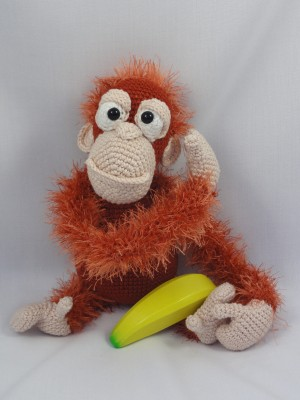 Amigurumi Orangutan Pattern : Oscar the Orangutan Amigurumi Pattern