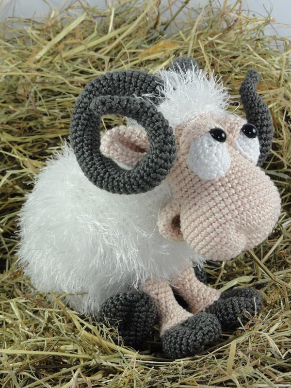 Rambert the Ram Amigurumi Crochet Pattern