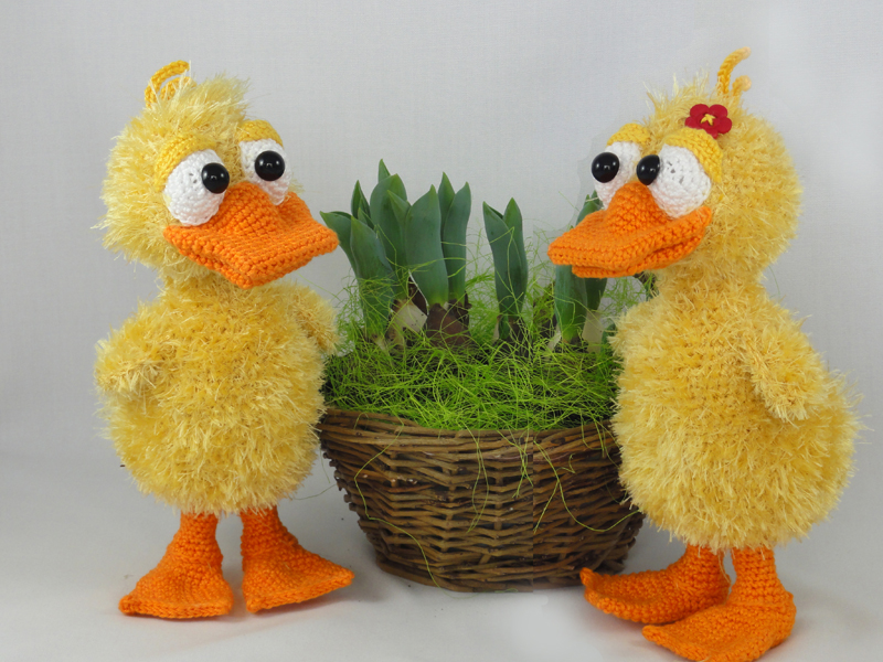 Amigurumi Duckling : Amigurumi Pattern Duck 3 Pictures to pin on Pinterest