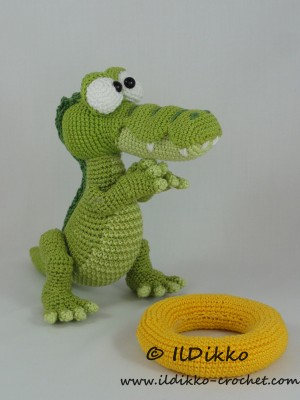 Conrad The Crocodile Amigurumi Crochet Pattern