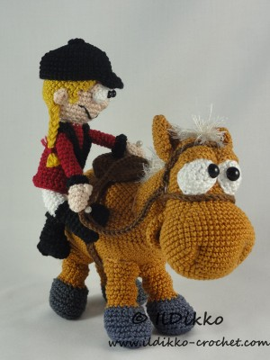Herbert the Horse and Roberta the Rider Amigurumi ...