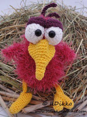 Rosie the Raven Amigurumi Crochet Pattern