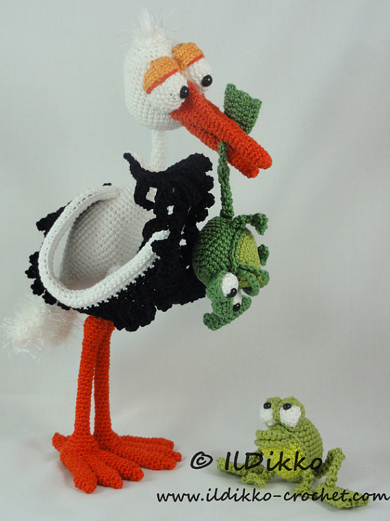 Amigurumi Wire Skeleton : Amigurumi Crochet Pattern Stuart the Stork & Snoggy by ...