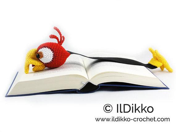 Crochet Dragon Bookmark, Animal bookmark, Crochet bookmark ... | 428x570