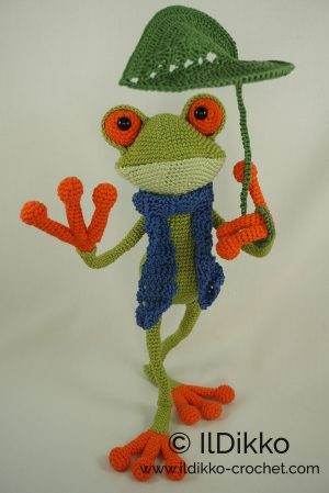 Carter Frog | Crochet frog, Crochet amigurumi, Crochet patterns ... | 449x300