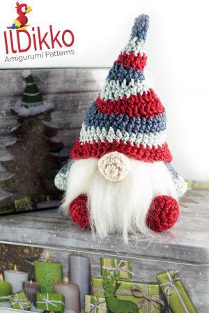 Christmas Gnome Amigurumi Crochet Pattern