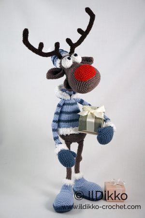 Free Crochet Patterns | Free Crochet Pattern Reindeer Ornament ... | 451x300