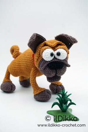 HOW TO CROCHET PUG DOGGY | AMIGURUMI TUTORIAL - YouTube | 451x300